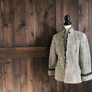 LAFAYETTE 148 NEW YORK Woven Wool/Silk Blazer